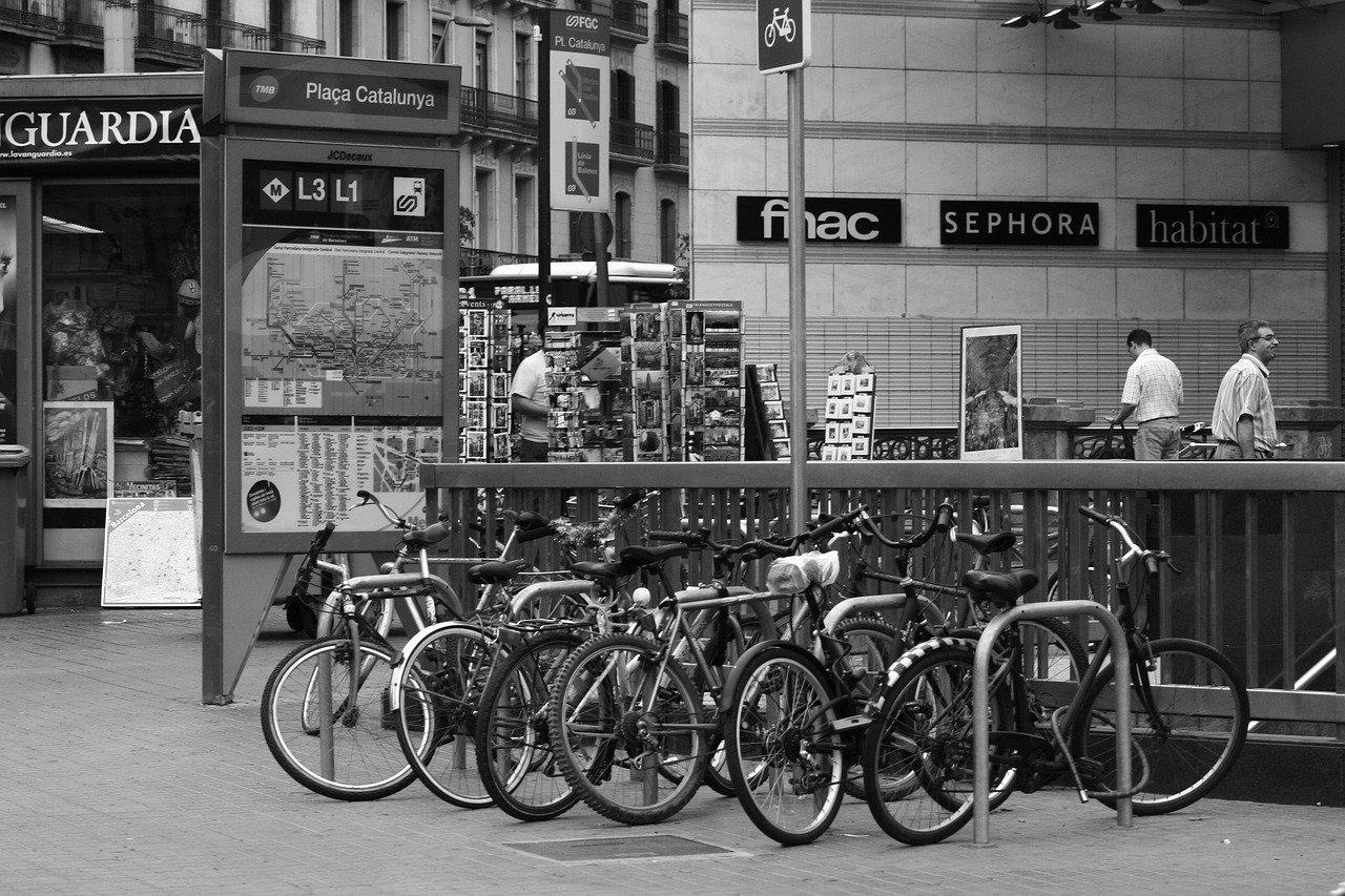 Lugares con más accidentes de bicicleta en Barcelona