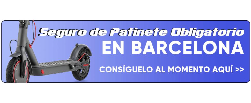 Seguro de Patinete Obligatorio en Barcelona. Contrátalo aquí.